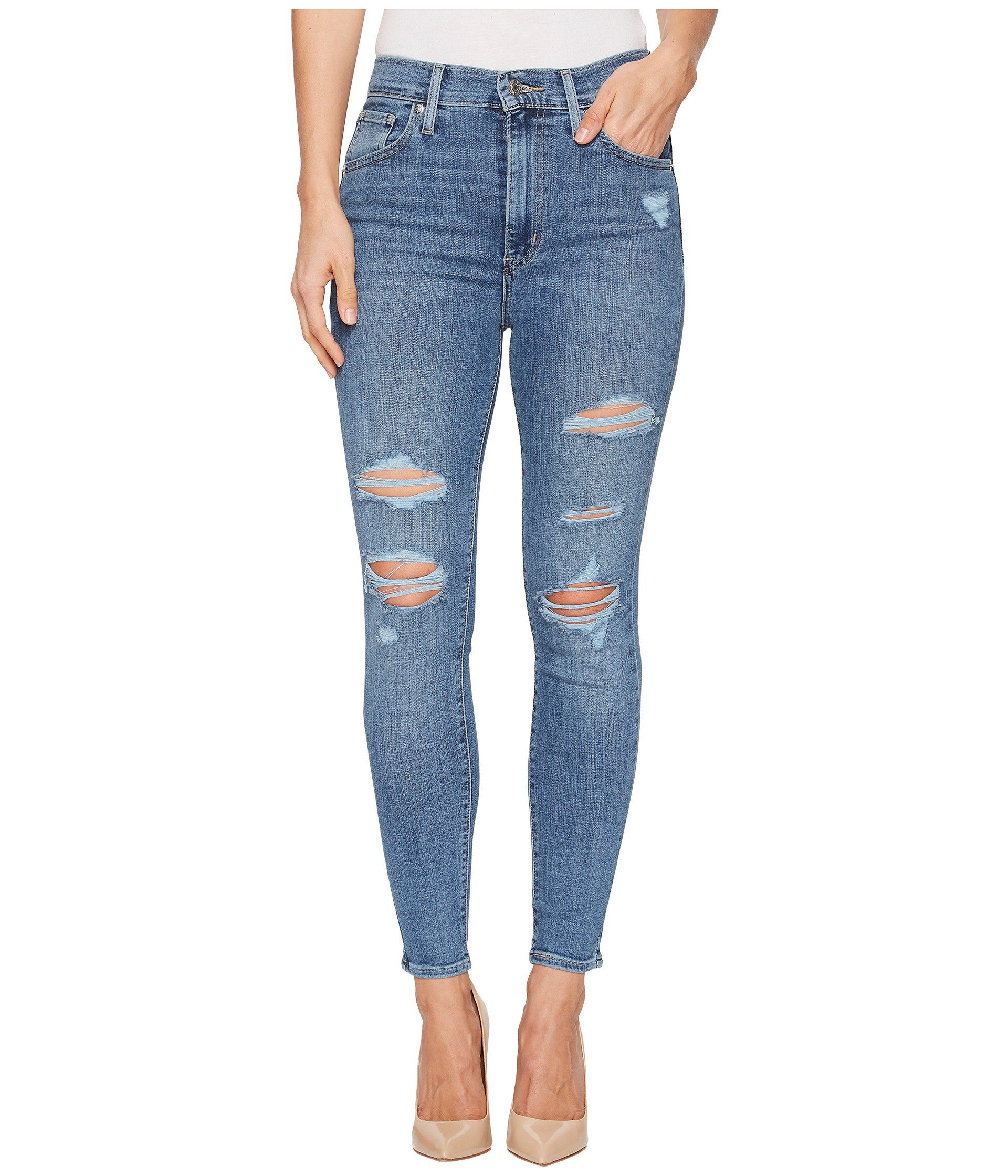 Levi's Women's Mile High Ankle Skinny Jeans, Night to Remember, 29 (US 8)