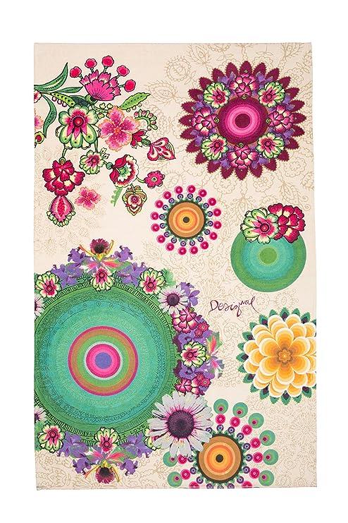 Desigual 57WL0A1 Flor Multicolor Toalla 95 x 150 cm