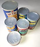BPA-Free ALAZCO Can Covers - Large Medium & Small Plastic Tight Seal Lids For Canned Goods or Pet Dog Cat Food Food Saver Reusable