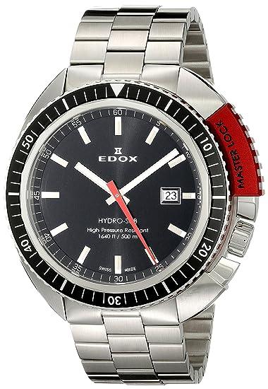 EDOX 53200 3NRM NIN - Reloj para Hombres, Correa de Acero Inoxidable