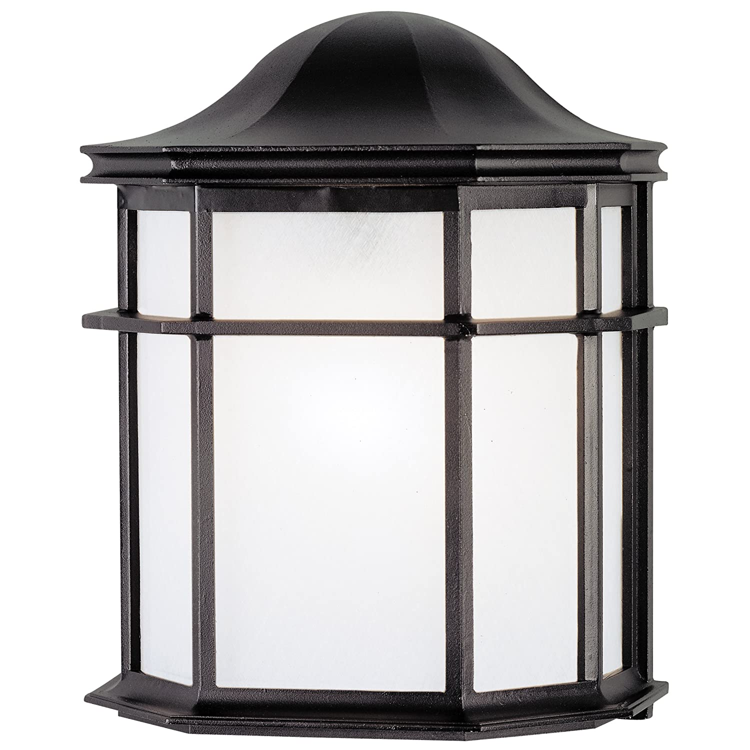 Westinghouse 6689800 one light exterior wall lantern textured black westinghouse 6689800 one light exterior wall lantern textured black finish on cast aluminum with white acrylic lens wall porch lights amazon aloadofball Choice Image
