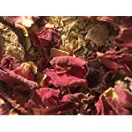 Strawberry & Rose Color Boosting Mix--10 oz--100% All Natural Organic Hermit Crab Food Treat-Dungeness Crab Exoskeleton, Red, Purple, Yellow, Pink Roses, Strawberries, Blue Corn, Coconut, Chia
