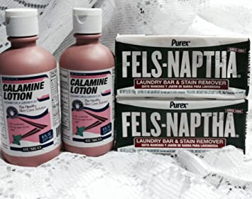 Calamine Lotion and Fels-Naptha Combination