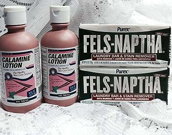Calamine Lotion and Fels-Naptha Combination
