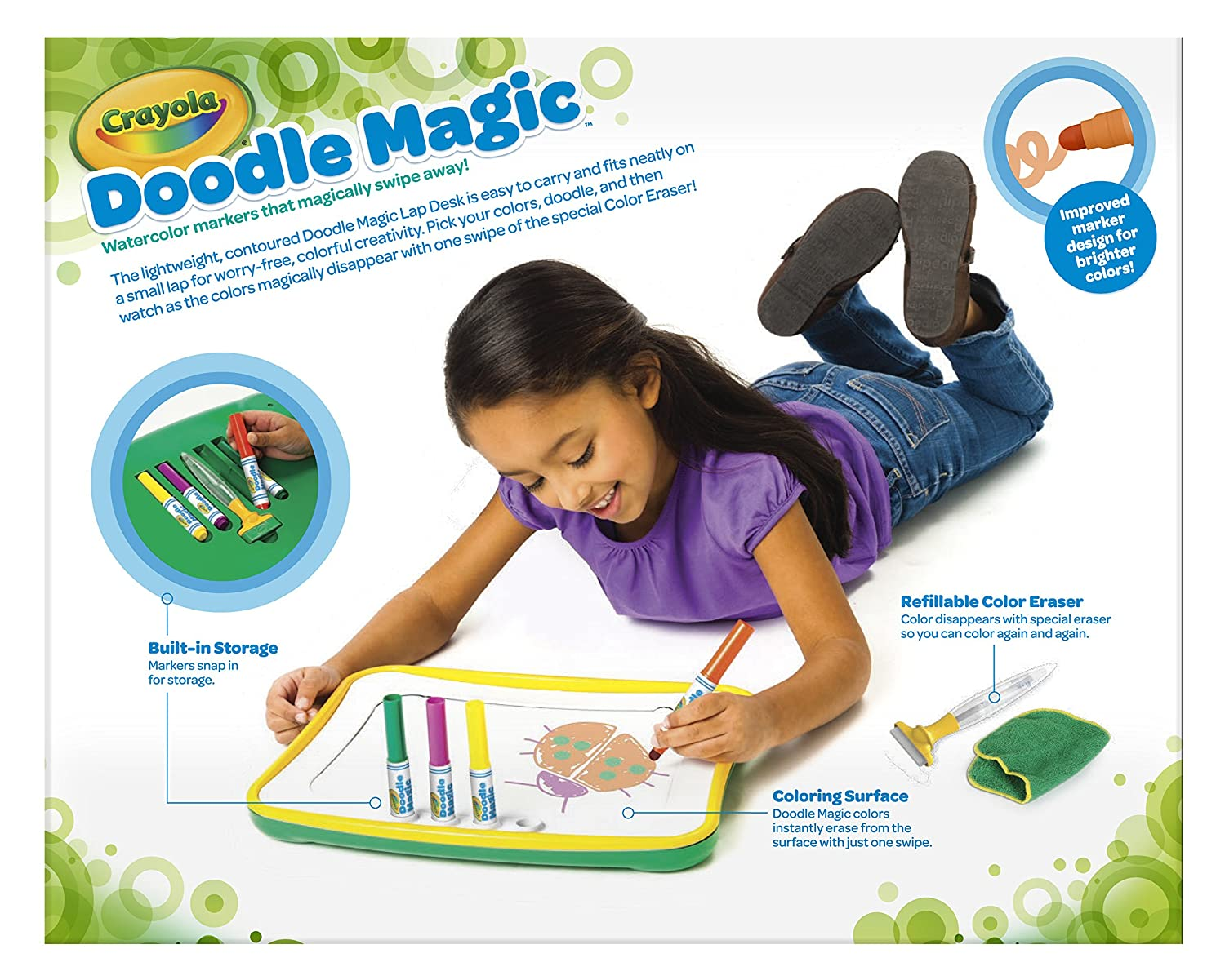 amazoncom crayola doodle magic lap desk toys games