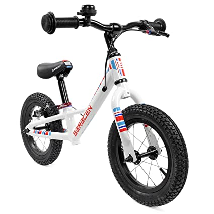 Amazon Com Saracen Freewheel 12 Balance Bike In Red White Blue Us