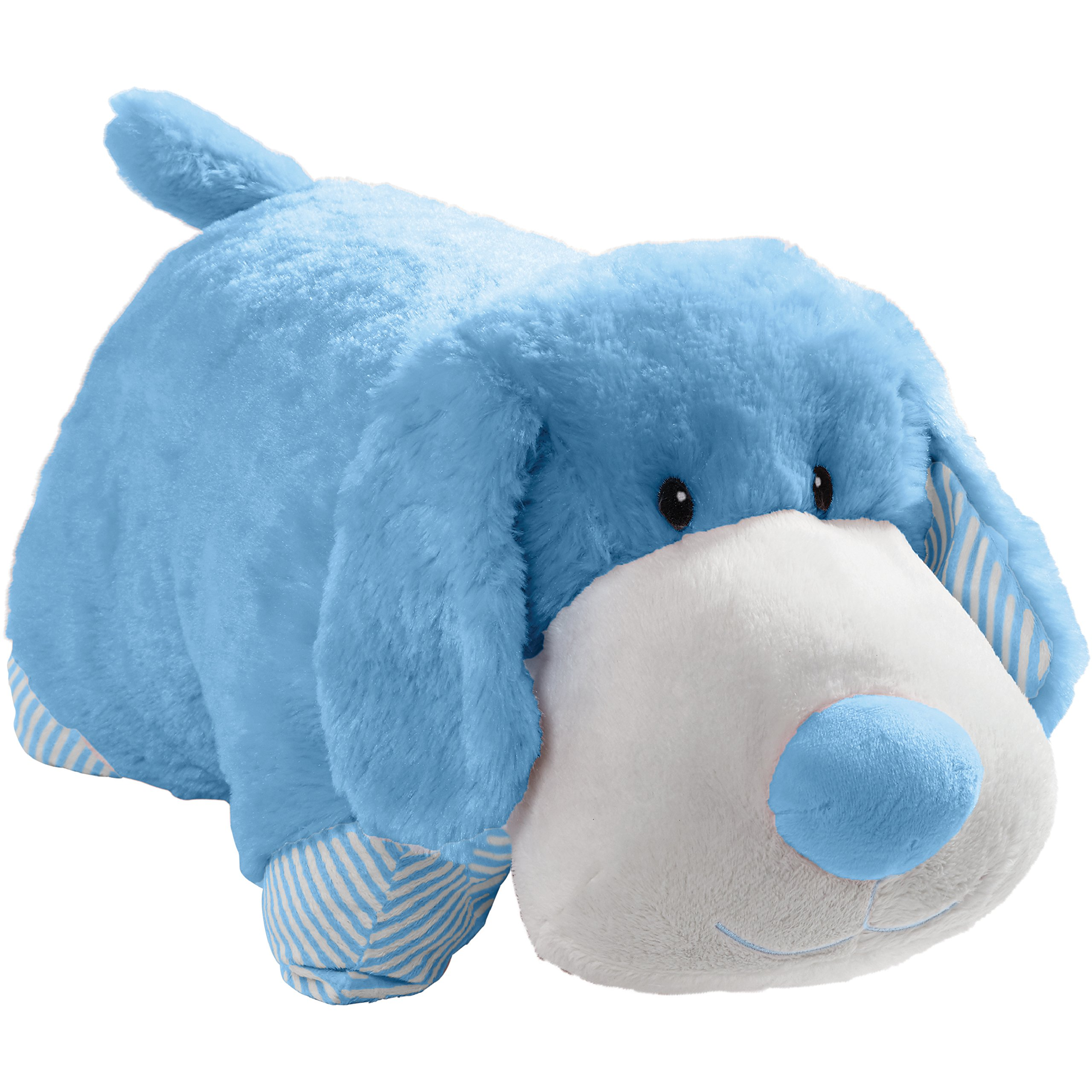 Pillow Pets 01313002P My First, Puppy, Stuffed Animal Plush Toy, 18'', Blue