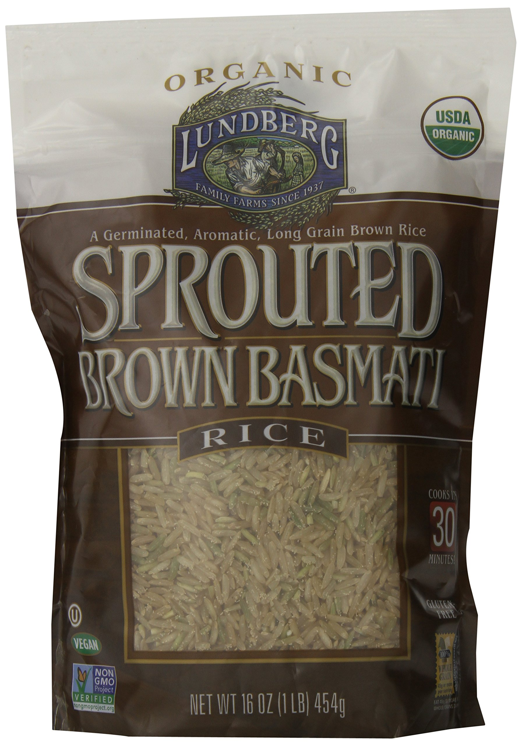 Lundberg Family Farms Sprouted Brown Basmati Rice, 16 Ounce