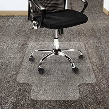 Amazoncom Office Marshal Polycarbonate Chair Mat with Lip for