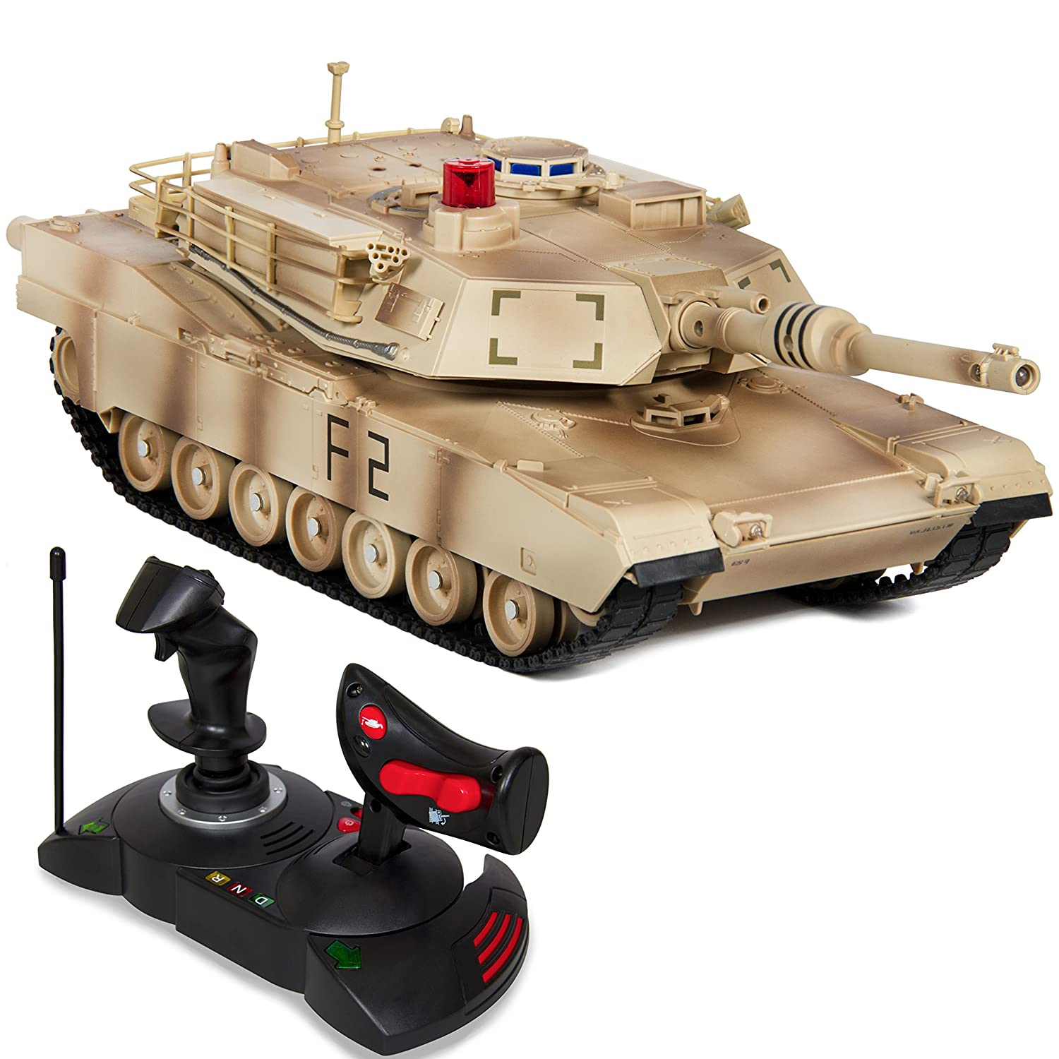 Best Choice Products 1/14 Scale RC Military Tank Gravity Sensor Remote Control Car- Yellow Camouflage