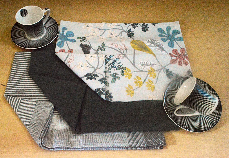 "Oven Mitt 713/"" Potholder 77/"" and Dish towel 2028/"" Eat Drink Live. Kitchen Linen Set,100/% cotton Kitchen combo,set of 4 Essentials for all Kitchen Apron 2835/"""