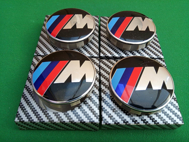 BMW M SPORT WHEEL CENTRE CAPS 68MM SET OF FOUR