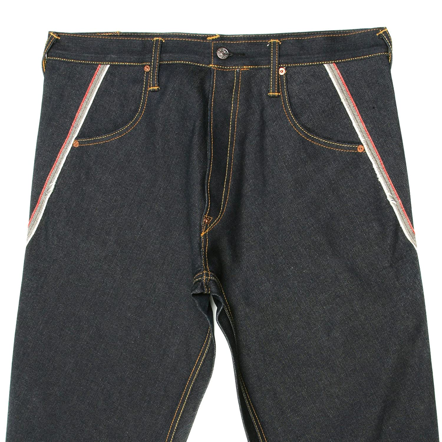 e004bdddb2f0 Evisu jeans spiral cut embroidered pocket denim jean EVIS6357   Amazon.co.uk  Clothing