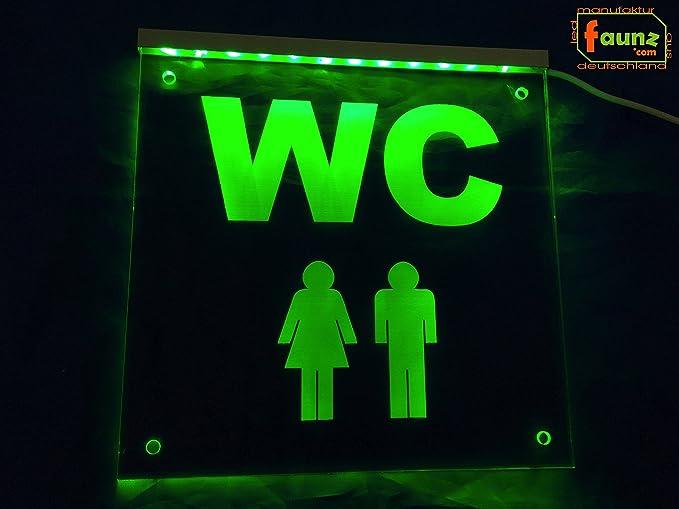 Led Insegna Luminosa Wc Weiblein Ometti Toilette Uomo Donna Verde