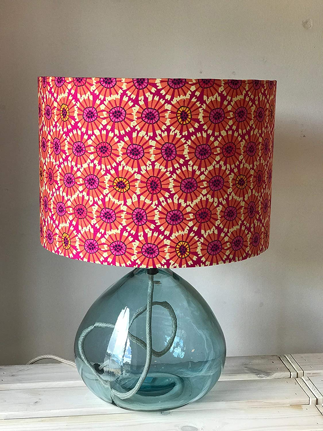 Abstract Orange and Pink Flower Lampshade