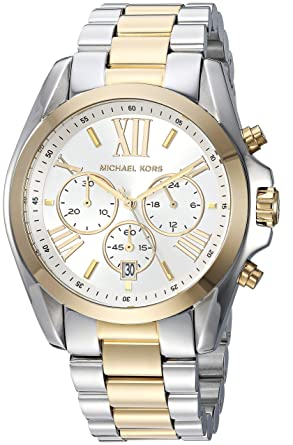 ee5fde406b738 Image Unavailable. Image not available for. Color  Michael Kors Women s  MK5627 Bradshaw Gold Silver Watch
