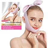 Light Soft Face Slimming Strap,Skin-Friendly Reusable V Line Lifting Mask,Effective Double Chin Reducer Chin Lift Up Tighten