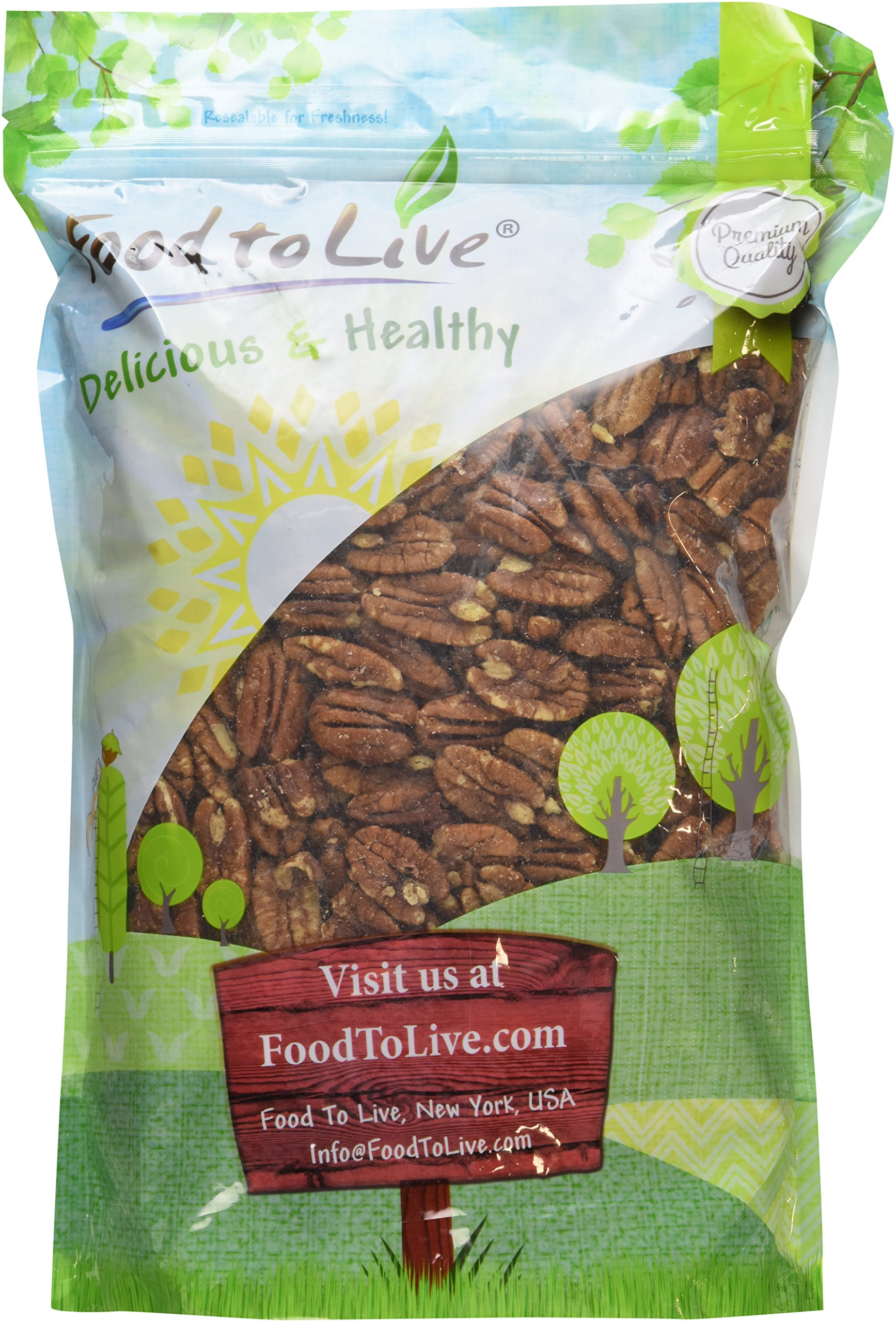 Food to Live Pecans (Raw, No Shell) (3 Pounds)