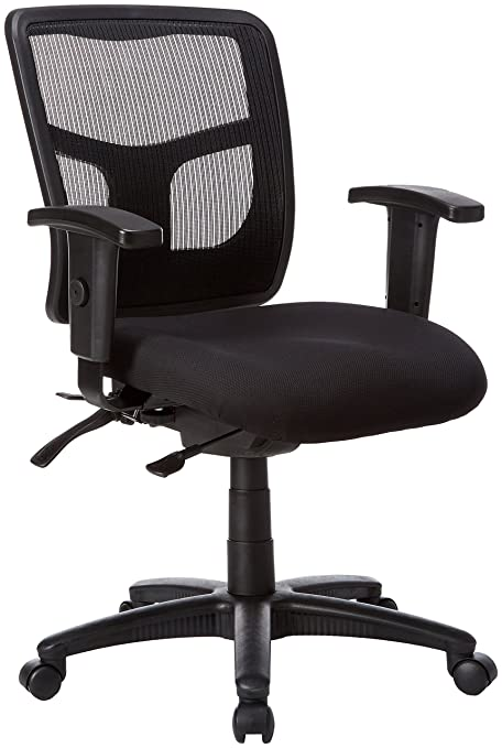 Lorell Managerial Mid Back Chair,25 1/4u0026quot;x23 1