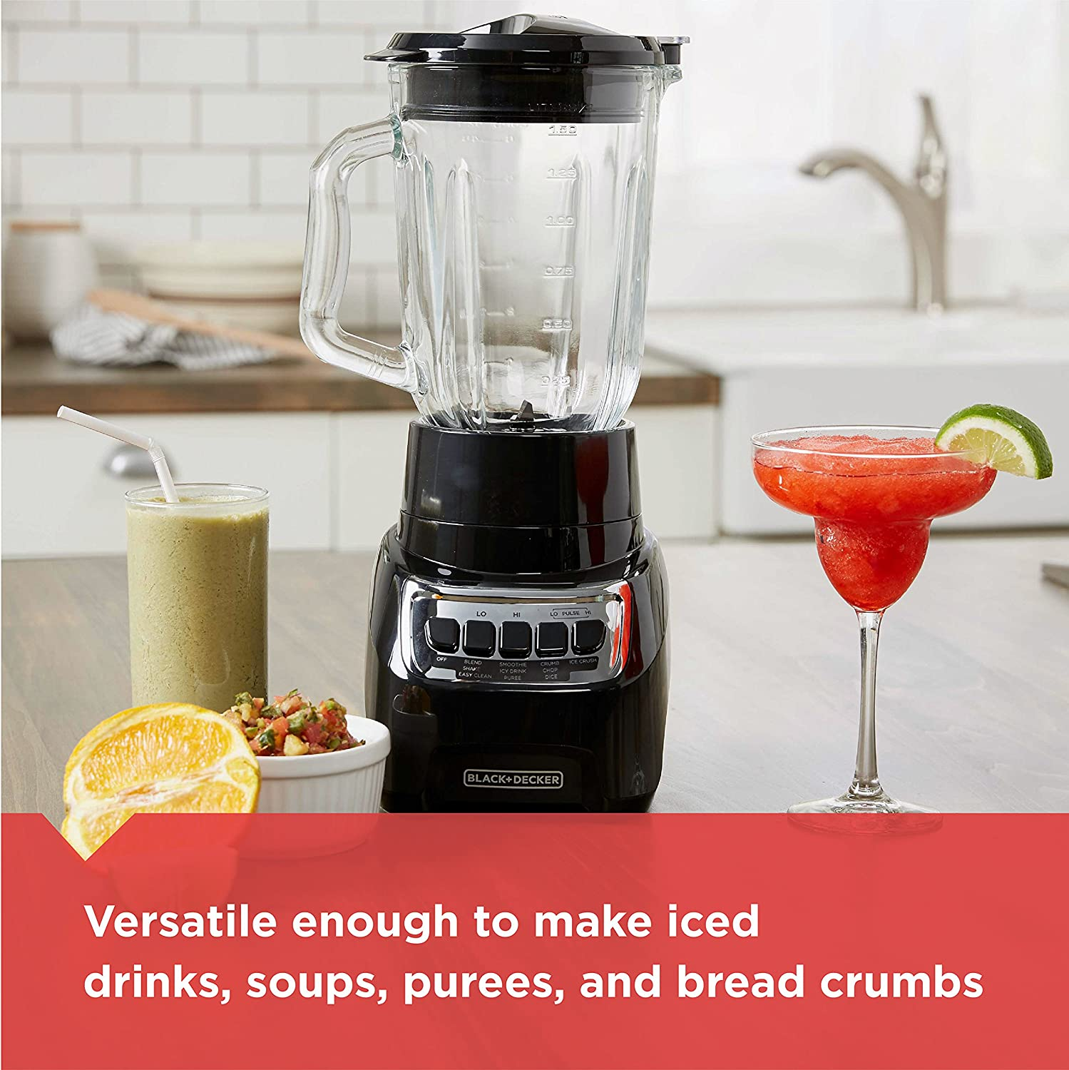 Black BLACK+DECKER Counter Top Blender BL1210BG