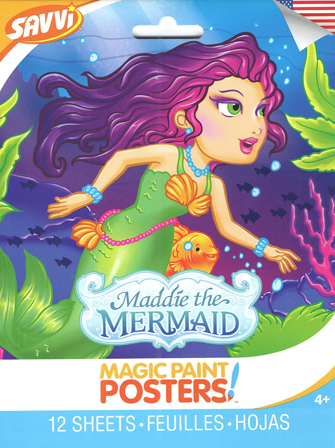 Savvi Magic Paint Posters ~ Maddie the Mermaid (A Mermaid Tale; 12 Posters, 6 x 8) 6 x 8)