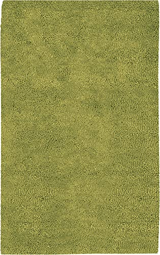 Surya Aros AROS-6 Shag Hand Woven 100 New Zealand Felted Wool Moss 9' x 13' Area Rug