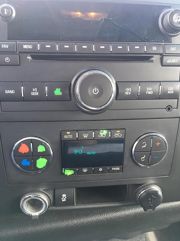 GM A/C AND RADIO BUTTON REPAIR KIT. Chevy Tahoe, Avalanche, Silverado, Terrain/ GMC Sierra, Yukon, Acadian Decal Man