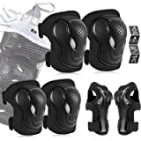 Kids/Youth Protective Gear Set, Kids Knee Pads and Elbow Pads Wrist Guard Protector 6 in 1 Protective Gear Set for…