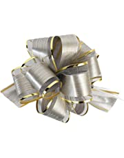 "Allgala 12-pc 6"" Large Everyday Pull Bows, Silver"