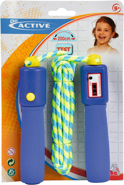Fitness Springseil mit 4 Z/ählmodi Springseil mit Digital Z/ähler Kalorienverbrauch Blau Speed Rope mit Komfortablen und Anti-Rutsch Griffen f/ür Training Anzahl der Spr/ünge Meilen und Km