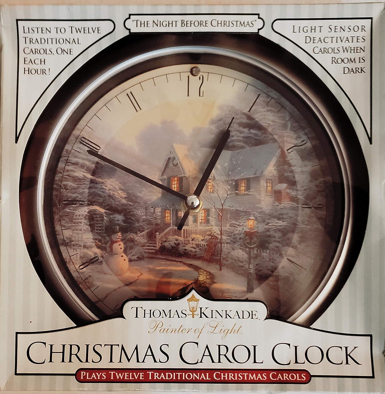 Thomas KINDADE Painter of Light Christmas Carol Clock: The Night Before Christmas