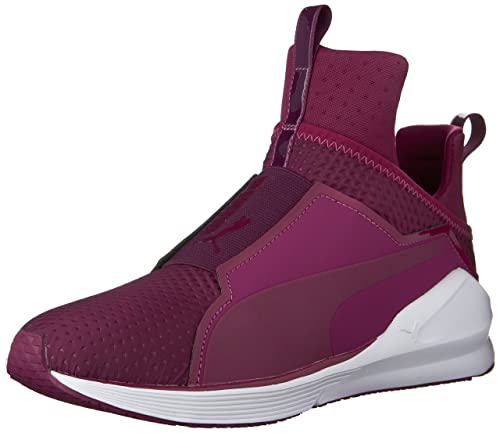 d3f23ba9786cf2 PUMA Women s Fierce Quilted Magenta Purple White Sneaker 11 B (M ...