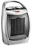 HOME_CHOICE Small Ceramic Space Heater Electric Portable Heater Fan for Home Dorm Office Desktop and kitchen with…