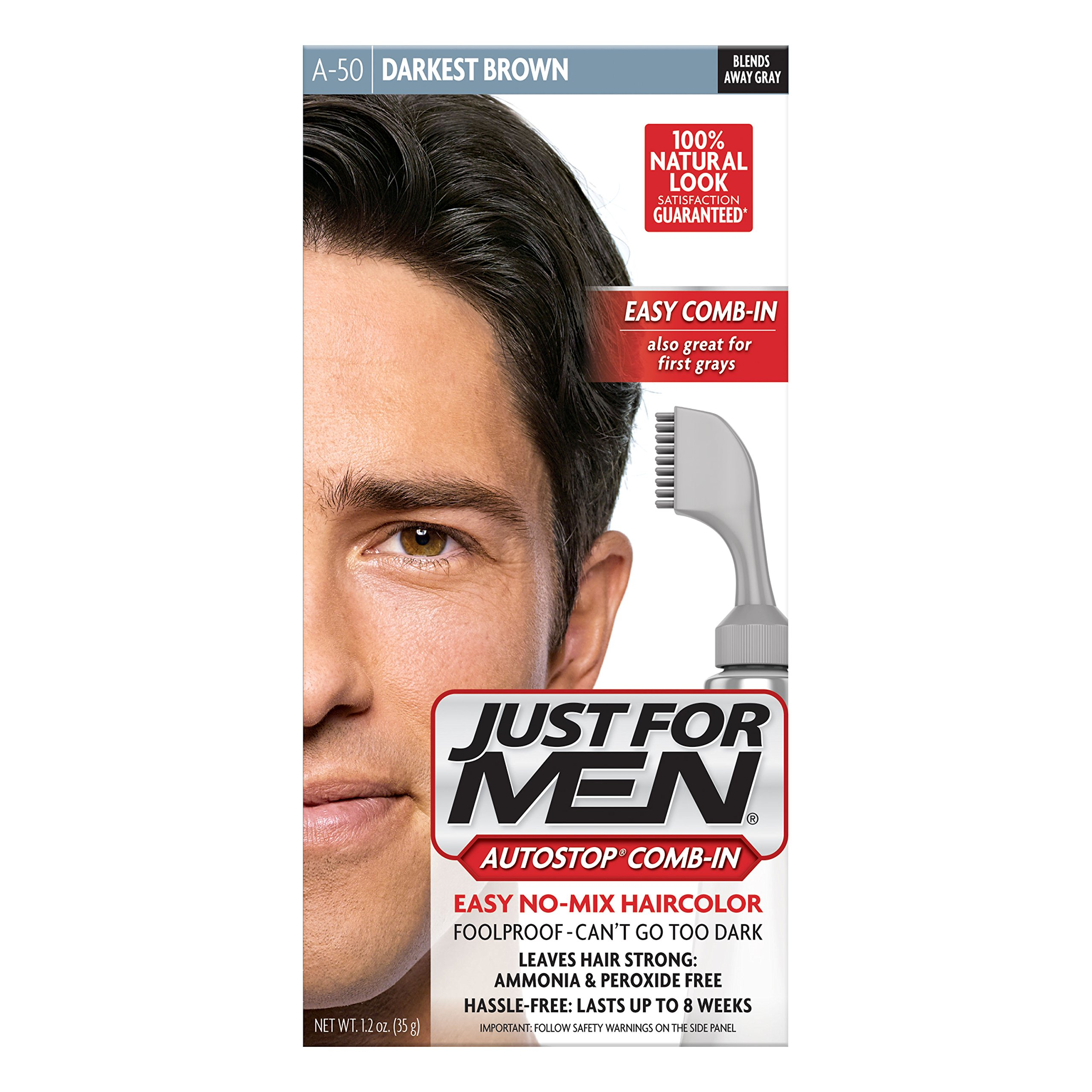 Amazon.com : Just For Men Brush-In Color Mustache & Beard ...