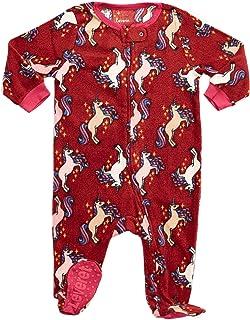 00be5843e Amazon.com  Elowel Baby Girls Footed Fleece Sleeper Pajamas (Size 6M ...