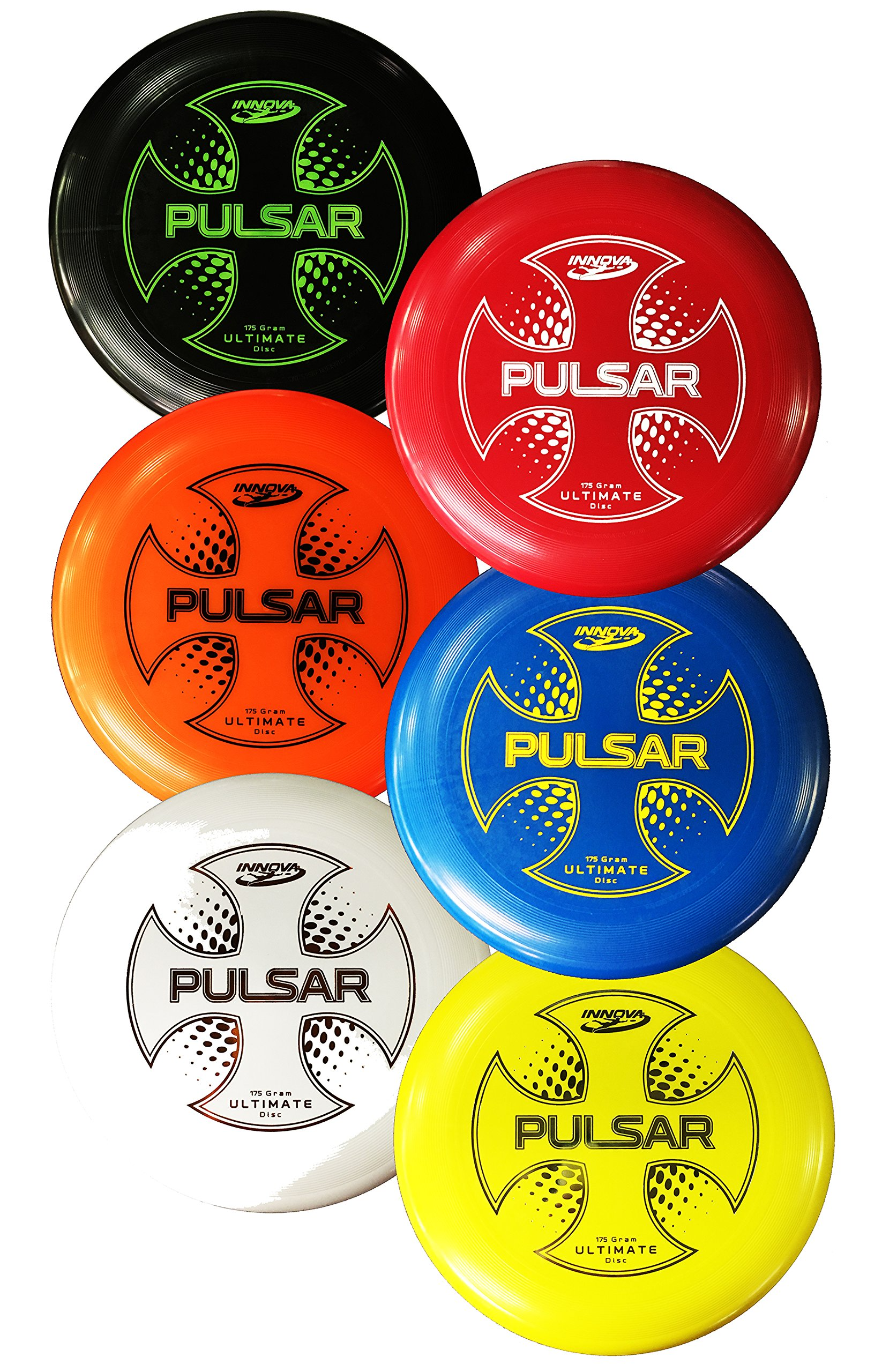 Innova Pulsar League Disc, Set of 6, 175 gram by Innova