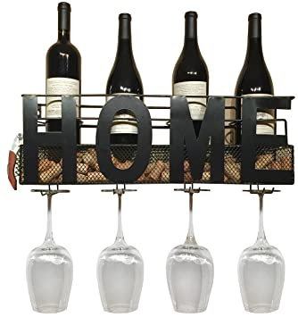 Amazoncom Home Wine Rack Wall Mounted Hanging Wine Cork Holder