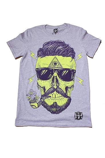 Amazon com: Bearded Skull T-Shirt Unisex Mens Ladies Hipster