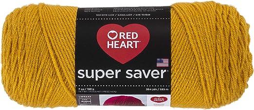 Gold RED HEART Super Saver Yarn