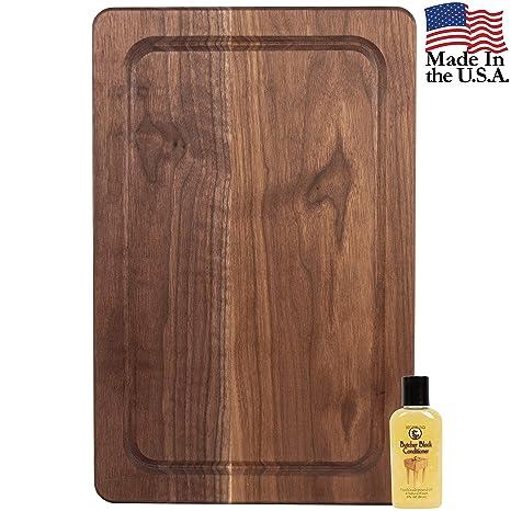 Amazon.com: Tabla de cortar madera para cocina - BONUS ...