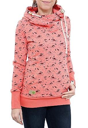 bc5604088a71f5 RAGWEAR Damen Pullover Sweatshirt Sweater BEAT PRINT ORGANIC 1721-30047   Amazon.de  Bekleidung