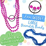 50 Gender Reveal Beads Necklaces 7mm Plus Game