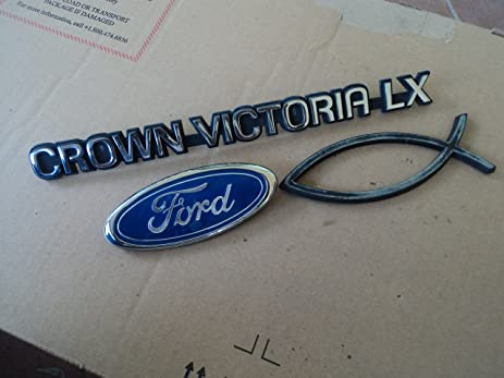 Amazon 94 Ford Crownvictoria Lx Rear Lid Gate Oval Badge Used