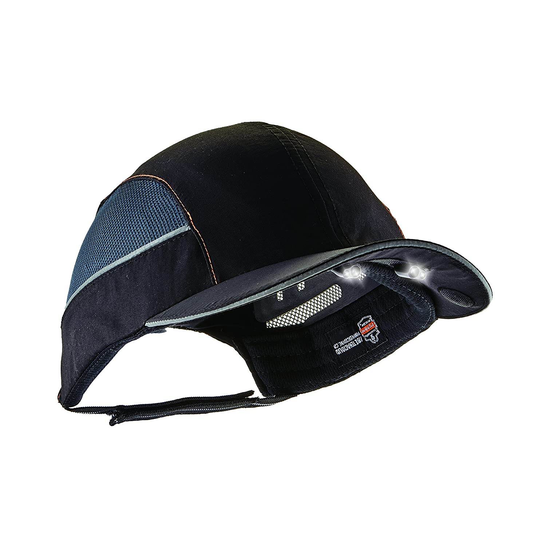 Ergodyne Skullerz 8960 Bump Cap with LED Brim Lighting, Short Brim, Black - - Amazon.com
