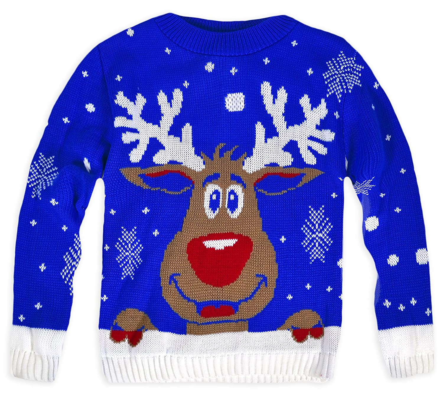 Generic Kids Unisex Knitted Rudolph Christmas Jumper