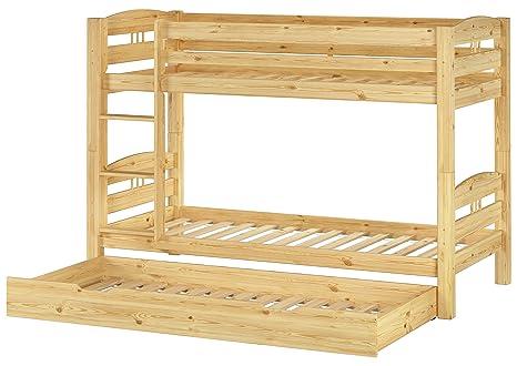 Letto castello 90x200 per bambini divisibile con assi di legno e ...