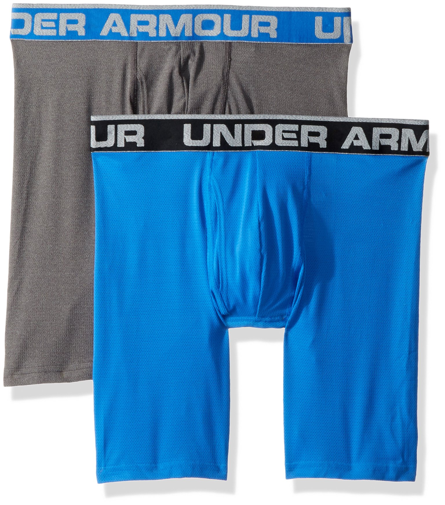 Under Armour Men's Tech Mesh 9'' Boxerjock - 2-Pack, Mediterranean (437), Small by Under Armour
