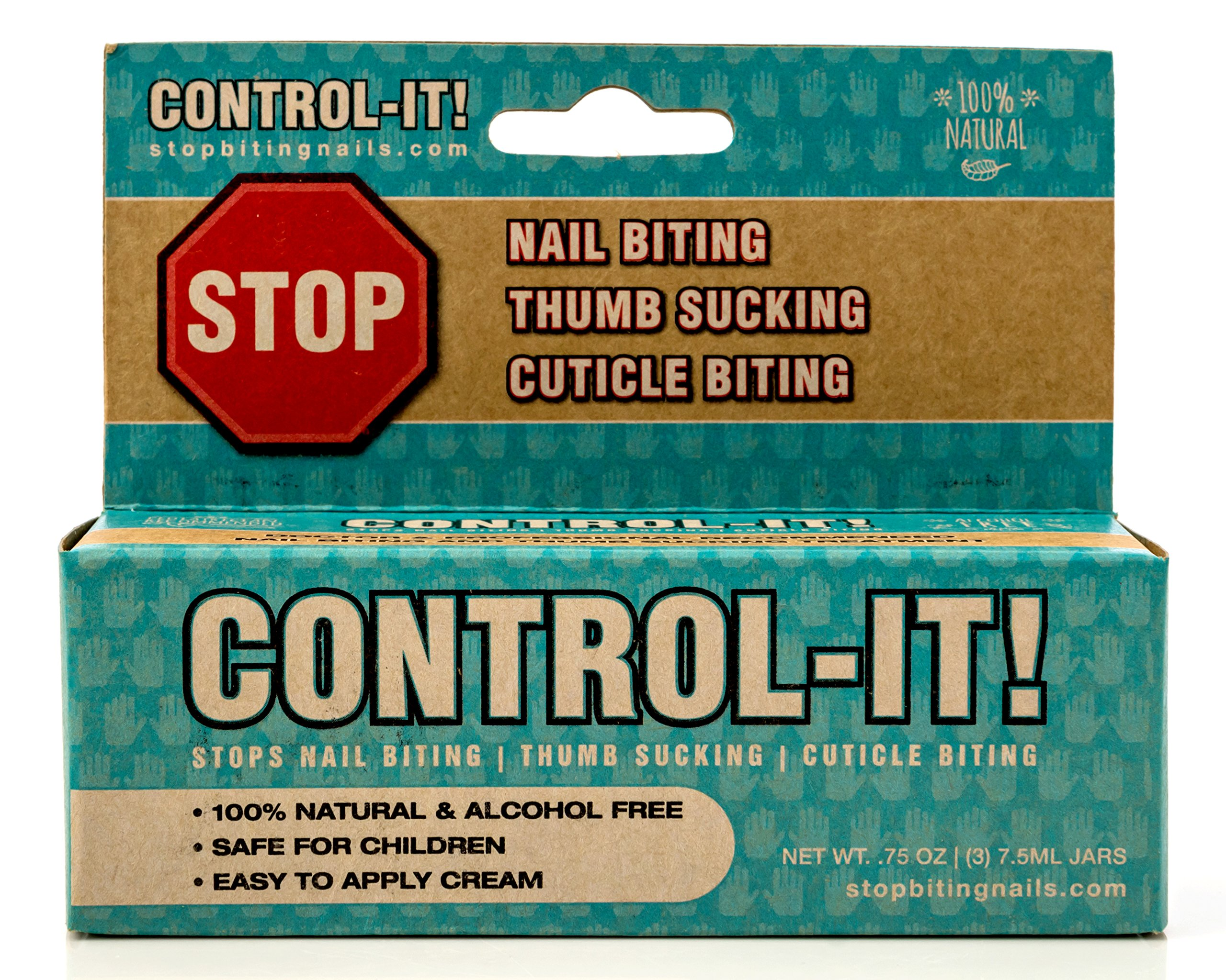 Control-It Stop Thumb Sucking & Nail Biting Cream (3-Pack) All-Natural, Kid-Safe Deterrent | Gentle on Skin, Teeth, Fingers | Bitter Taste, Easy-to-Apply Formula