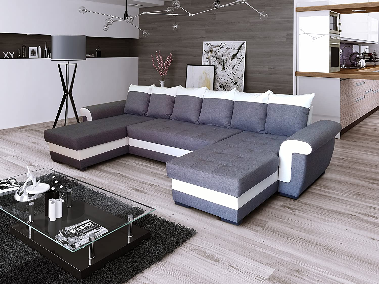 ecksofa latte u mit schlaffunktion eckcouch sofagarnitur modern couch g nstig online kaufen. Black Bedroom Furniture Sets. Home Design Ideas