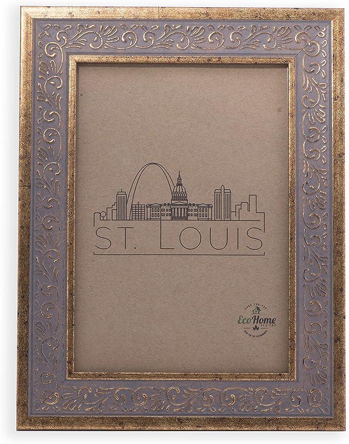 Clear Glass /& Backing 11x4 Vintage Ornate Gold Frame